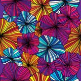 Set of Vectorized Flowers Stock Image