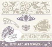 Set vectors art nouveau. Lots of useful elements to embellish your layout Royalty Free Stock Photography