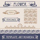 Set vectors art nouveau. Lots of useful elements to embellish your layout stock illustration