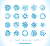 Set of vectors snowflakes Stock Photography