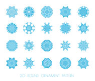 Set of vectors snowflakes. Stock Photos