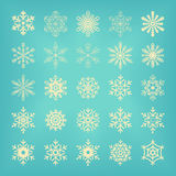 Set of vectors snowflakes Royalty Free Stock Photography