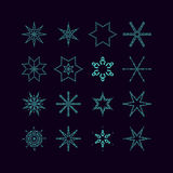 Set of vectors snowflakes Stock Images