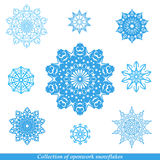 Set of vectors snowflakes Stock Photos