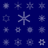 Set of vectors snowflakes Stock Photography