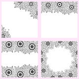 Set of vegetable black and white backgrounds Royalty Free Stock Image