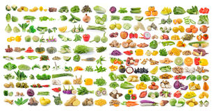 Set of vegetable and fruit isolated on white background Royalty Free Stock Photo