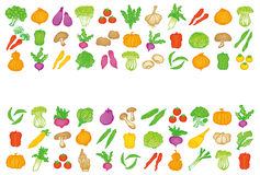 Set of vegetable icons. Stock Images