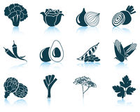 Set of vegetable icons Stock Images