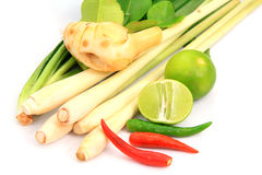 Set vegetable ingredient for Tom yum Royalty Free Stock Photography
