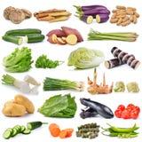 Set of vegetable isolated on white background Stock Photo