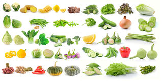 Set of vegetable isolated on white background Royalty Free Stock Image