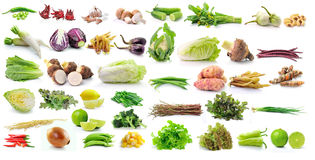 Set of vegetable isolated on white background Stock Images