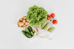 Female hands choose variety vegetables cooking. Female hands choose a variety of vegetables for cooking on a white background royalty free stock photography