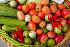 A set of vegetable for Som Tom. The favourite food of  Thailand Stock Photography