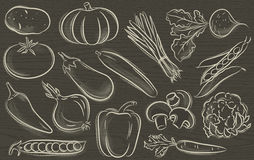 Set of vegetable,vector Royalty Free Stock Photos