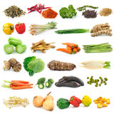 Set of vegetable on white background Stock Photography
