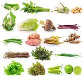 Set of vegetable on white backgruond Royalty Free Stock Photos