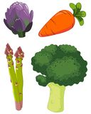 Set of vegetables 1 Royalty Free Stock Photography