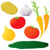 Set of vegetables. Stock Photos