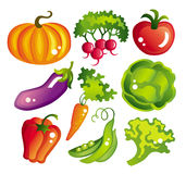 Set of vegetables Stock Photos
