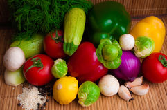 Set vegetables. For food during lent stock photography