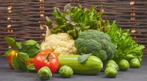Set of vegetables. fresh colorful organic vegetables in rustic style, horizontal close-up view. natural products from the garden. Set of vegetables. fresh stock photos