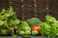 Set of vegetables. fresh colorful organic vegetables in rustic style, horizontal close-up view. natural products from the garden. Set of vegetables. fresh stock photo