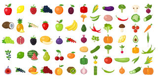 Set of vegetables. Royalty Free Stock Photo