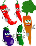 Set of vegetables gesturing a call me sign Royalty Free Stock Image