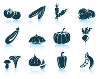 Set of vegetables icon Royalty Free Stock Photo