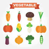 Set of vegetables icon Stock Photography