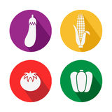 Set of vegetables icon great for any use, Vector EPS10. Royalty Free Stock Photos