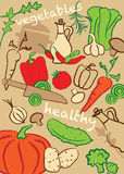 Set vegetables, illustration royalty free stock photo