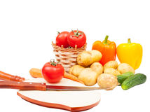 Set vegetables Stock Image