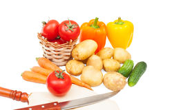 Set vegetables Stock Photos