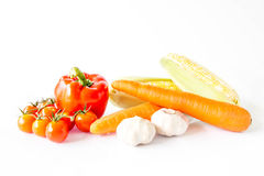Set vegetables isolated on white background. Royalty Free Stock Photography