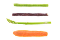 Set of vegetables isolated on white background Royalty Free Stock Photos