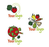 Set vegetables logos Royalty Free Stock Image