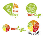 Set vegetables logos Stock Photos