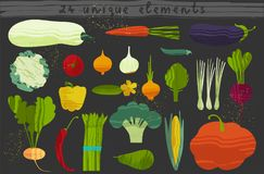 Set of vegetables. Vector illustration of healthy food design on the topic of vegetarianism and farm fair. Vegan menu vector illustration