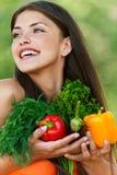 set vegetarian för flicka Arkivfoton