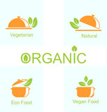 Set of Vegetarian Food Icons Royalty Free Stock Photos