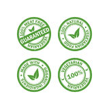 Set of vegetarian food rubber grunge stamps. Vegan sticker icons. Vector. Illustration Royalty Free Illustration