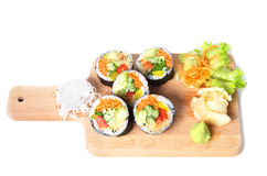 Set of vegetarian sushi rolls Royalty Free Stock Photography