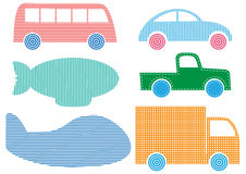 Set of Vehicles  Royalty Free Stock Images