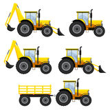 Set of vehicles and tractors. Royalty Free Stock Photography