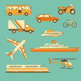 Set of vehicles vector illustration