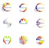 set vektor för abstrakt affärsidélogo vektor illustrationer