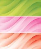 set vektor för abstrakt bakgrundstitelradlampa vektor illustrationer